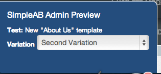 Admin preview