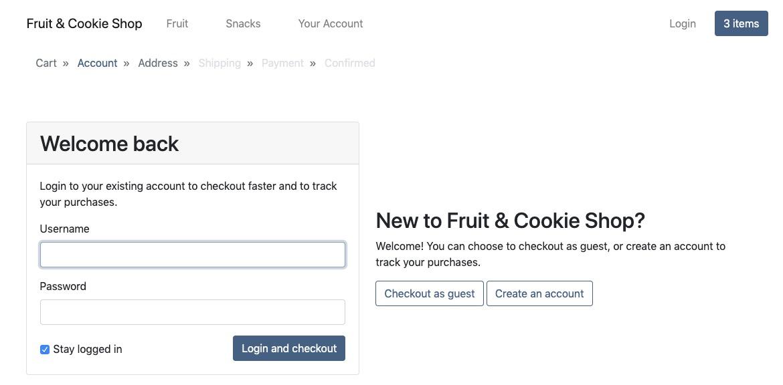Checkout - Account