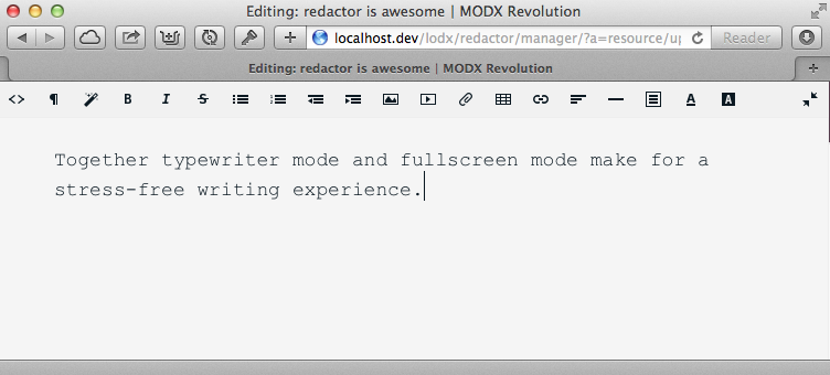 New Typewriter Mode in Redactor 1.5