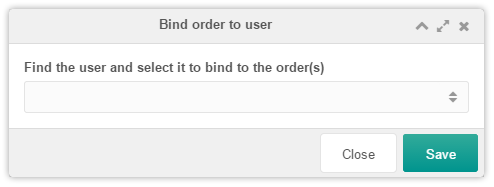 Binding user to order window
